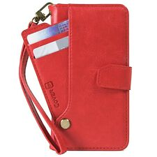 Red PU Leather Wallet Phone Cover Credit Card Case for Samsung Galaxy Note 9