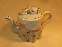 Vintage Price Kensington Potteries Teapot England Tea Set On Top of Teapot!