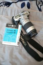 Minolta Dynax 5 Maxxum 5;35mm SLR Film Camera&Minolta AF 75-300 lens& hoya filte