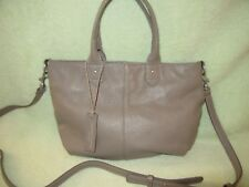 American Eagle Outfitters Taupe Leather Med Cross Shoulder Bag Italy Nice!  NWT fb50e693ece1c