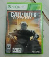 XBOX 360 Game Call Of Duty Black Ops 3 Rated M Activision Game Case ESRB