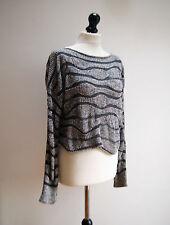 "SARAH PACINI impresionante textura Boxy capas puente en grises os hasta 48"" pecho"