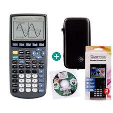 Ti 83 PLUS CALCOLATRICE GRAFICA CALCOLATRICE + Protezione Borsa apprendimento Pellicola protettiva per CD