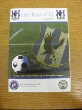 16/09/2017 Lye Town v Boldmere St Michaels  . Thank you for viewing this item av