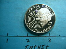 COPERNICUS 1473-1973 500TH ANIVERSARY EARTH IN MOTION SILVER COIN RARE COOL ITEM