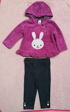 C&A Baby Club girl bunny hoody leggings outfit set size 6-9 months
