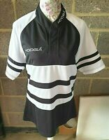 Kooga Rugby Shirt - UK Size S - Official - Black & White V Good Condition - Used