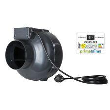 Prima Klima EC II Speed Ventilator 125 360m³/h Grow PK Rohrventilator Rohrlüfter