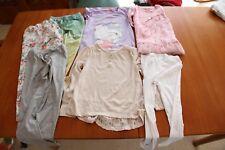 3 Tops Pink Beige TU Dunnes Hello Kitty & 4 pairs of leggings TU  age 7 years