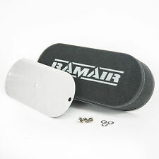 RAMAIR Twin Carb Bolt On Foam Air Filters Custom Caterham 40mm Internal Height
