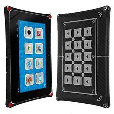 Skinomi Carbon Fiber Black Skin+Screen Protector for Fuhu Nabi 2 7 inch Tablet