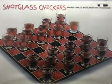 Shotglass Checkers *New Shrink wrapped* Spencer's Gifts 625954