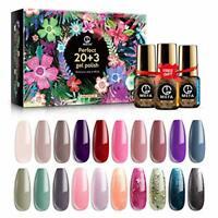 MEFA Gel Nail Polish Set 23 Pcs Gift Box - Soak Off UV LED Color Gel Varnish