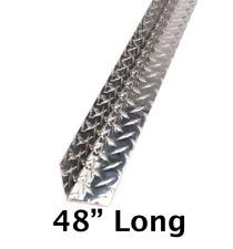 2 X 2 X 48 Aluminum Diamond Plate Inside Corner Guard 045 Thick