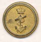 EARLY BRITISH NAVAL OFFICERS ONE PIECE COAT BUTTON..19mm..1825-27