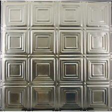 #120-Tin Ceiling Tiles - Unfinished - Nailup, 5 pcs per box