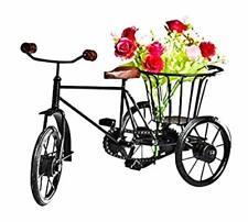 Flower Cycle Rickshaw Showpiece Flower Vase Toy for Kids, Home & Office Decor