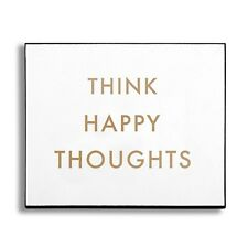 'Think Happy Thought's' Wooden Wall Plaque - Style My Pad