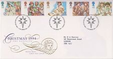 GB ROYAL MAIL FDC FIRST DAY COVER 1994 CHRISTMAS STAMP SET BETHLEHEM PMK