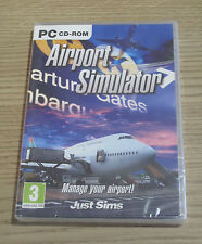 AIRPORT SIMULATOR-PC-CD ROM GAME-NUOVO e SIGILLATO