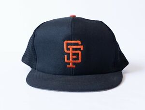 Vintage San Francisco Giants Trucker Hat ANNCO Med/Large Mesh Snapback Cap VTG