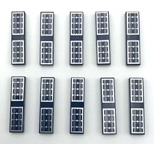 Lego 10 New Dark Blue Tiles 1 x 4 with Solar Panels Pattern Pieces