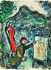 Marc Chagall - Near Saint-Jeannet, 1972 (M.646) - Original Color Lithograph