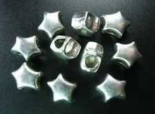15pcs Tibetan Silver Star 4mm Hole Spacer Beads R1515
