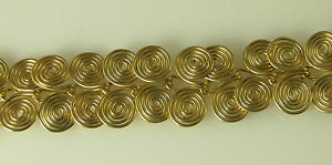 """ARTISAN WIRE WRAPPED EGYPTIAN COIL GOLD FILLED WIRE BRACELET 6"""" / 18 cm"""