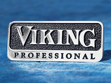 "NEW Viking Professional 3"" Metal Emblem Logo Badge Nameplate Trim with posts"