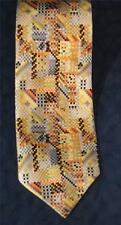 """Stunning FOX & CHAVE V & I Yellow Based Pixelated Abstract Tie 58"""" x 3 3/4"""""""