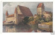 AK, Dinkelsbühl, Wasserburg, Künstlerkarte, um 1930