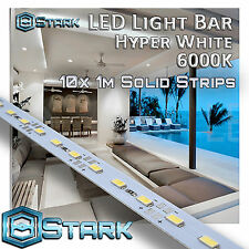 1M 3.3FT Cool White 72 LED 5630SMD Strip Light Aluminum Case Display Cabinet x10