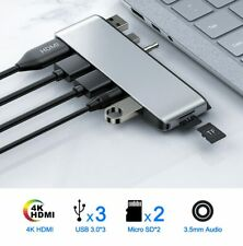 Multi Port USB Hub For Microsoft Surface Laptop 1,2 USB 3.0 and SD Card Slots