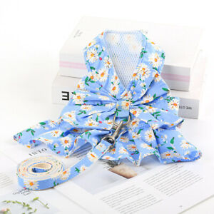 Cute Floral Fruit Pet Dog Harness and Leash Puppy Cat Vest Dress Harness Style