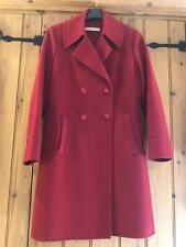 Designer Louise Kennedy Red Coat Size Medium / 14- 16 Excellent Condition