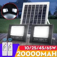 20/40/60/80 LED Solar Panel Power Flood Light Outdoor Garden Street Lamp+Remote
