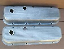 Vintage Cal Custom Finned Aluminum Valve Covers Big Block Chevy 396 427 454 NICE
