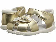 Sandals Gold Closed Toe Little Girls Summer Infants Sz 5 1/2 Medium Sale!