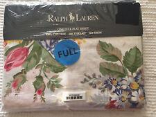 RALPH LAUREN MELISSA WHITE FULL FLAT SHEET NIP