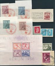 Lot Stamp Germany Bohemia WWII Hitler Olympics 1936 Sheet Wehrmacht U MNG