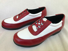 Decoys by Auditions Retro Quick Lace Red White Leather Oxford Shoes Women's 10 N