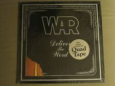 WAR DELIVER THE WORD LP ORIG '73 JAZZ FUNK SOUL ERIC BURDON DIE CUT VG+ SHRINK!