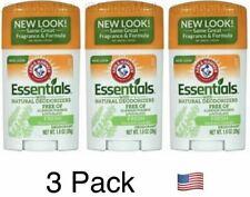 3 X Arm & Hammer Essentials Natural Deodorant Fresh 1 oz Each, USA Seller!!!