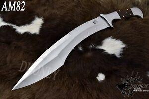 Custom Handmade D2 Steel Hunting Tanto Full Tang Knife ROSEWOOD Handle (DKONLY)