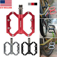 Ultralight Aluminium Alloy Cycling MTB Road Bike Bicycle Pedals 3 Sealed Bearing
