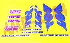 HOOD DECAL STICKERS SIDES APRILIA TUAREG 125 DEL 1987 BLUE WHITE AP8111659