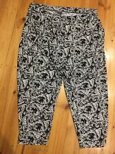 As New Autograph Black & White Paisley Stretch Pants with Pockets Size 20