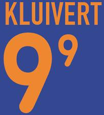 Holland Kluivert local 2000 camisa fútbol un fútbol de impresión de calor Número Letra