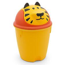 CURVER Kinder Mülleimer 9L Schwingdeckel Papierkorb Spielzeug Tiger Motiv gelb